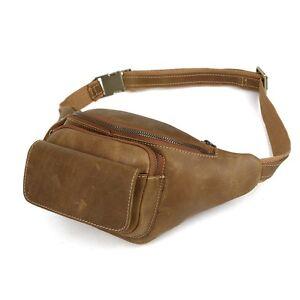 herren echt leder bauchtasche g rteltasche sporttasche crossbody reisetasche ebay. Black Bedroom Furniture Sets. Home Design Ideas