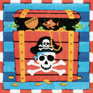 Pirate-Party-Supplies-Pirates-Treasure-Luncheon-Napkins-Pack-of-16-2-Ply