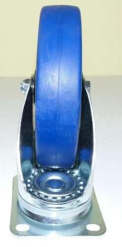 1 Set 200 mm SL Rollen BREMSE Transportrollen Lenkrollen Blue Wheels Schwerlast