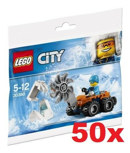 Lego Pack de 50 City - Arctique Eiss ge 30360 - Polybag Neuf / Emballage | Sale
