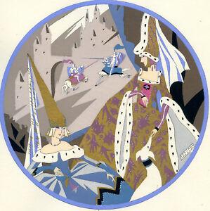 1930s-French-Pochoir-Print-Edouard-Halouze-Art-Deco-Princesses-Watching-Joust