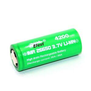 Efest-IMR26650-con-4200mAh-3-7V-litio-ioni-Batteria-High-Drain