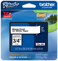Brother 3/4 (18mm) Black On White P-touch Tape For Pt2700, Pt-2700 Label Maker