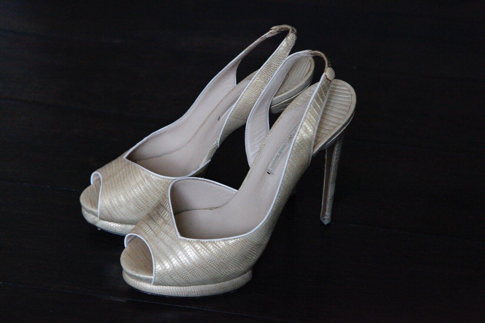 Nicholas Kirkwood - peep toes - 5 5 5 inch heels with platform - size 38.5 -UK 5.5 6574ef