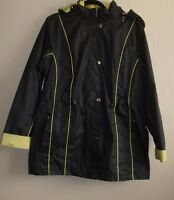 Bon Marche 3 In One Parka Jacket Black And Lime Size Medium