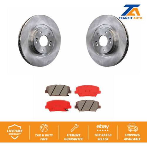 Front Disc Brake Rotors Semi-Metallic Pad For Hyundai Santa Fe Sport Kia Sorento