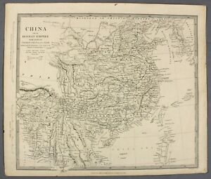 1844-Map-of-China-with-Burman-Empire-Cochin-China-and-Siam-thailand-myanmar