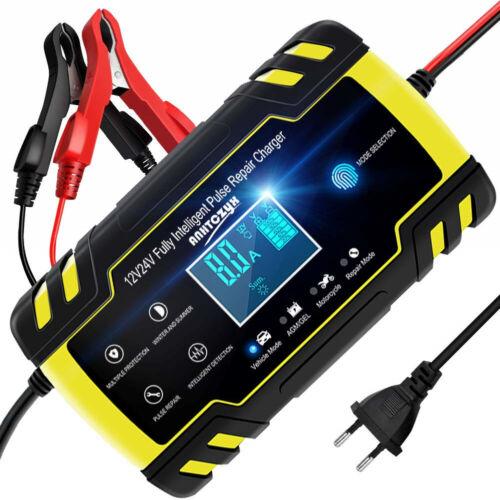 Portable LCD Écran Voiture Moto Chargeur de Batterie 8A 12V réparation Outil