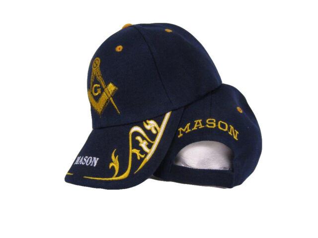 4ca234da385d4 Dark Navy Blue Mason Masonic Freemason Feather Eggs Style Cap Hat