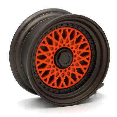Felge Schlüsselanhänger BBS Style Schwarz Matt Orange Auto Tuning Zubehör JDM