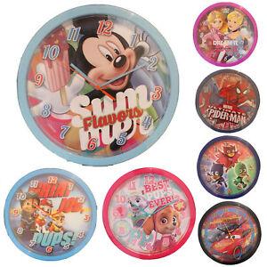 license-Disney-officielle-PERSONNAGE-pour-Enfants-Chambre-24cm-Horloge-murale