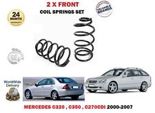 FOR MERCEDES C320 C350 C270 CDI W203 S203 CL203 2000-> 2x FRONT COIL SPRINGS SET