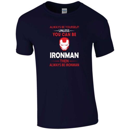 Always Be Iron Man T Shirt Marvel Avengers Infinity War Stark Funny Gift Men Top