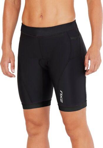 Black 2XU Active 7 Inch Womens Tri Shorts