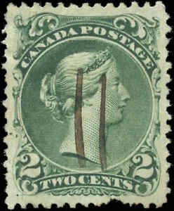 1868-Used-Canada-VF-Scott-24-2c-Large-Queen-Issue-Stamp
