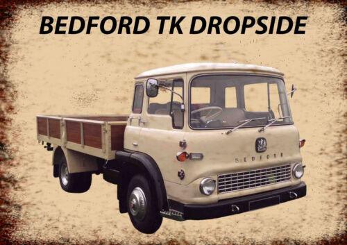 Bedford TK Dropside Truck advertising vintage retro signs repro wall art