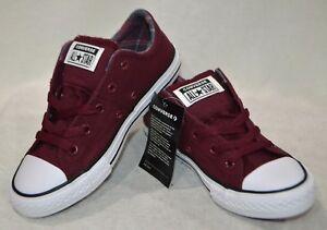 8d4565c7a5e3 Converse Girl s CTAS Madison OX Burgundy White Low Top Sneaker ...
