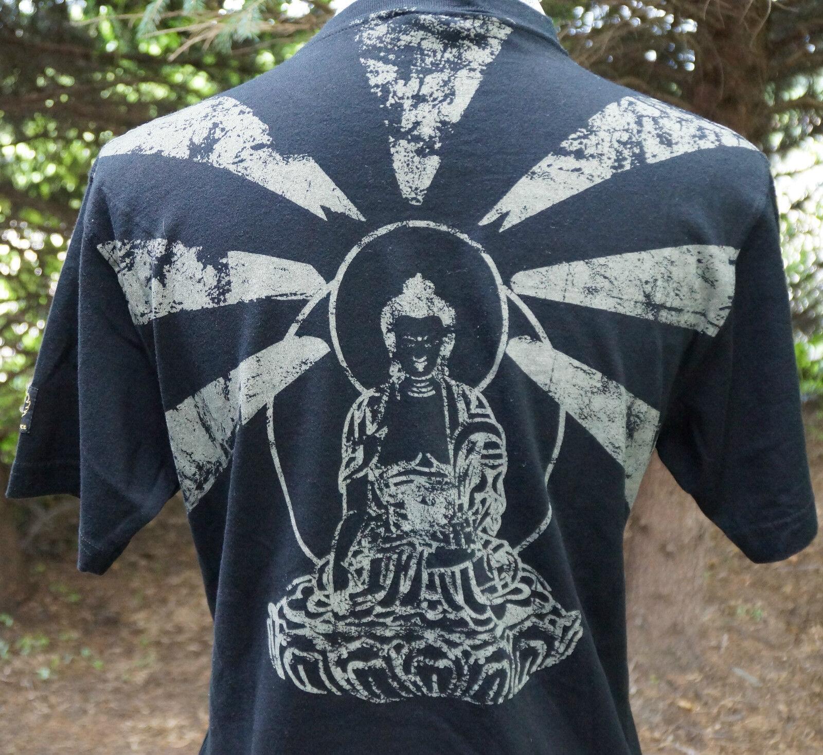 schwarz Prince By Belstaff FREE TIBET Short Sleeve T Shirt EU Größe 40 New Crewneck