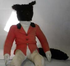 *VINTAGE STUFFED FOX PAJAMA CASE/SOFT TOY/ORNAMENT IN RED HUNT COAT AND BOOTS