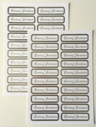 White//Silver Evening Invitation Toppers Foiled /& Die cut 40 Pcs Wedding