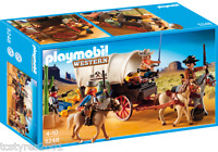 And Complete Playmobil Western - Covered Wagon With Raiders 5248