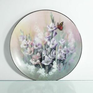 Collection-Plate-Bradex-Edwin-WITH-Knowles-Ruby-Elegance-Butterfly-Certified-Ovp