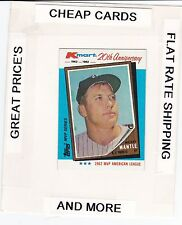 1982 TOPPS K-MART 20th Anniversary  MICKEY MANTLE
