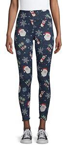 Size XL No Boundaries Juniors/' Christmas Faux Fur Lined Leggings. NEW! 15-17 .