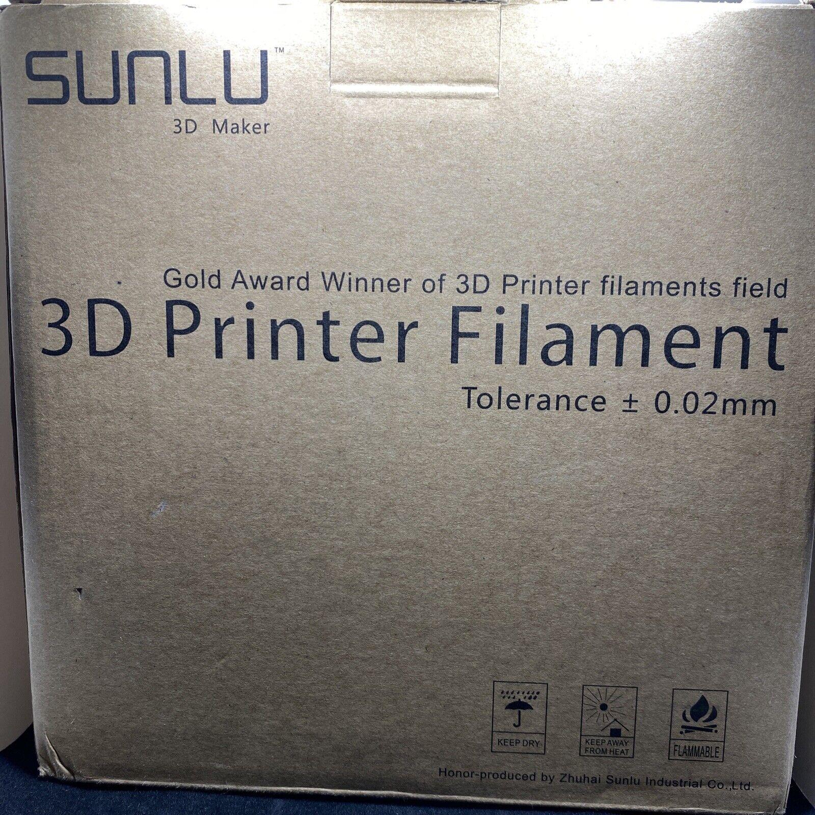 SUNLU 3D Printer Filament PLA PLUS SILK Red 1.75mm 1KG/2.2LB Smooth printing