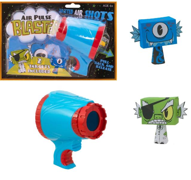 Kids Air Pulse Blaster Fun Target Shooting Game Boy Girls Novelty Activity Toy