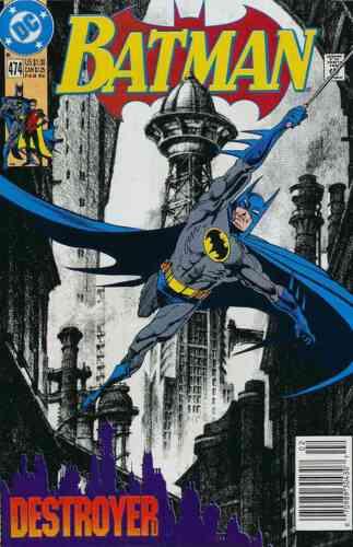 BATMAN #474 NEAR MINT 1992 DC COMICS