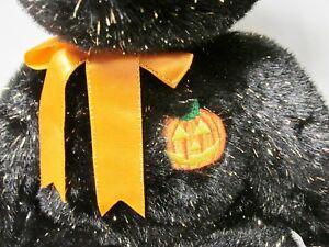 aeee150b8ee Ty Beanie Buddy Haunt Black   Gold Sparkle Teddy Bear PRISTINE Mint ...