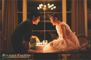 SIXTEEN CANDLES - MAKE A WISH - MOVIE POSTER 24x36 - CLASSIC 843