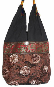 WOMEN A Noir BAG MARRON eBay VERT SAC ETHNIQUE MAIN ETHNIK 1wqSg