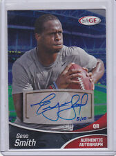 2013 SAGE AUTOGRAPHED GENO SMITH SERIAL #5/10 VERY RARE #SPA50 FOIL AUTO