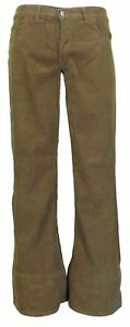 Mens-Vintage-60s-70s-Retro-Tan-Bell-Bottom-Super-Cord-Flares
