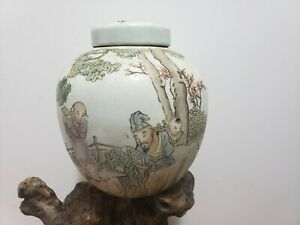 Fine-Chinese-Famille-Rose-Porcelain-Ginger-Jar-With-Lid