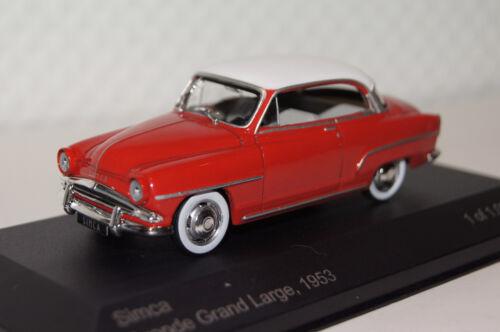 Simca Aronde Grand Large rojo-blanco 1:43 Whitebox nuevo con embalaje original wb111