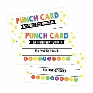 25 rewards punch cards for kids students teachers classroom image is loading 25 rewards punch cards for kids students teachers colourmoves