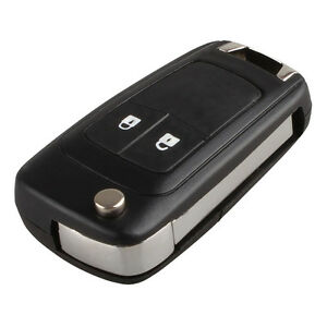 Fit-For-Chevrolet-Cruze-Orlando-Flip-Key-Remote-Case-2-Button-Uncut-Blade-Fob