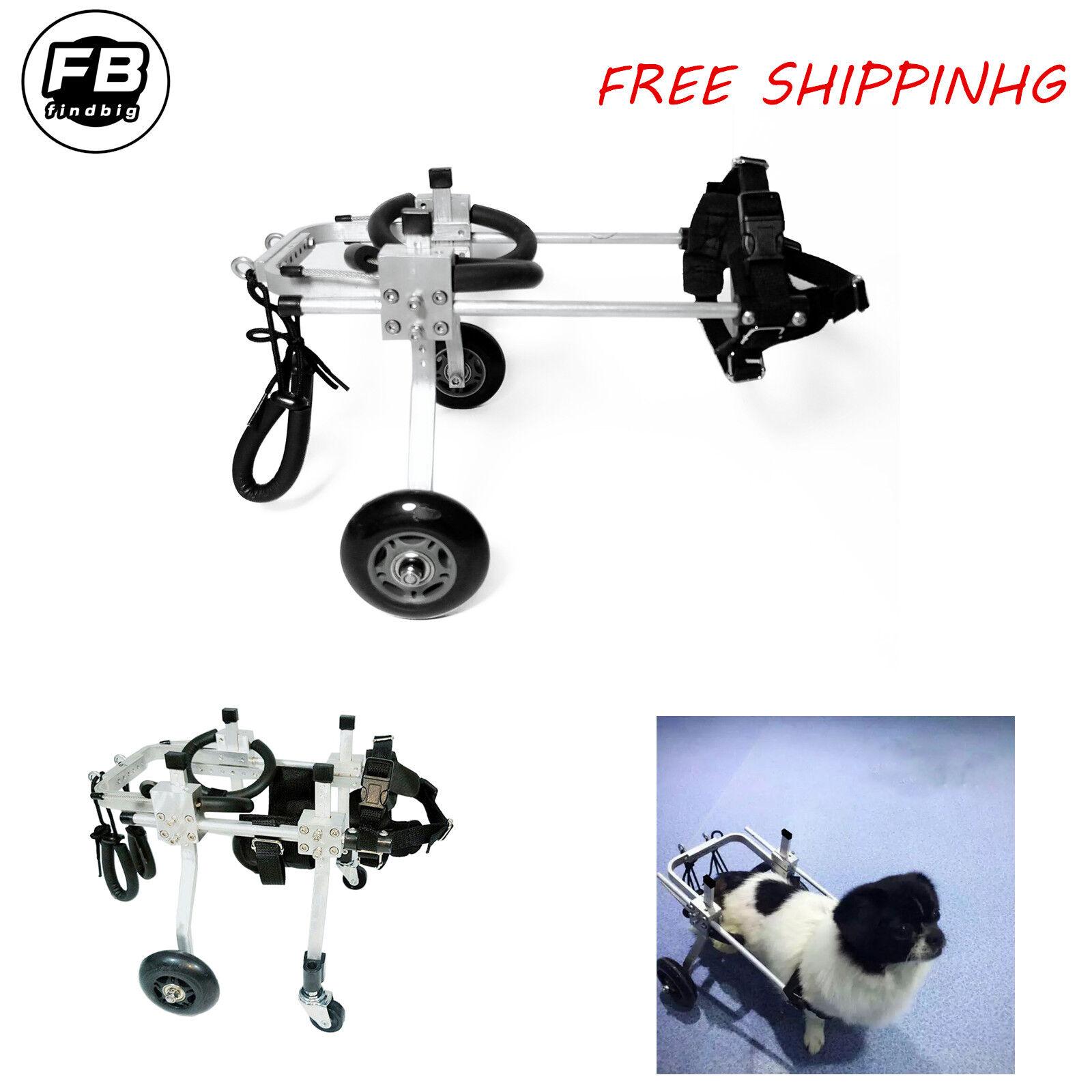 prezzi più bassi 4 Types Cart Pet Dog Wheelchair For Handicapped Handicapped Handicapped Small Dog Doggie  Puppy  Offriamo vari marchi famosi