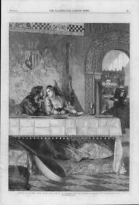 1864 FINE ART Antique Print - Drink Thine Eyes Philip Hermogenes Calderon  (39)