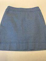 Talbots Light Blue With White Print Skirt Size 4
