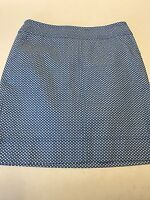 Talbots Light Blue With White Print Skirt Size 4