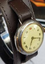 Vintage Rolex trench watch, 15 jewel Rebberg movement, Recent service