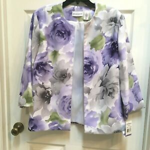 Alfred-Dunner-Plus-Size-18-Open-Style-Jacket-Violets-NWT