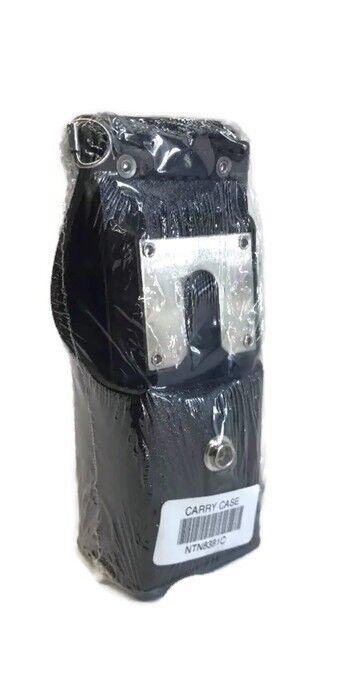 """W//strap Motorola NTN8381C Leather Holster 3/"""" swivel belt loop XTS5000 /& All Mot"""