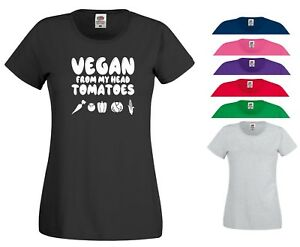 Image Is Loading Vegetarian T Shirt Vegan From My Head Tomatoes