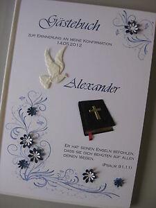 Gastebuch Blau Jugendweihe Konfirmation Kommunion Deko Tischdeko