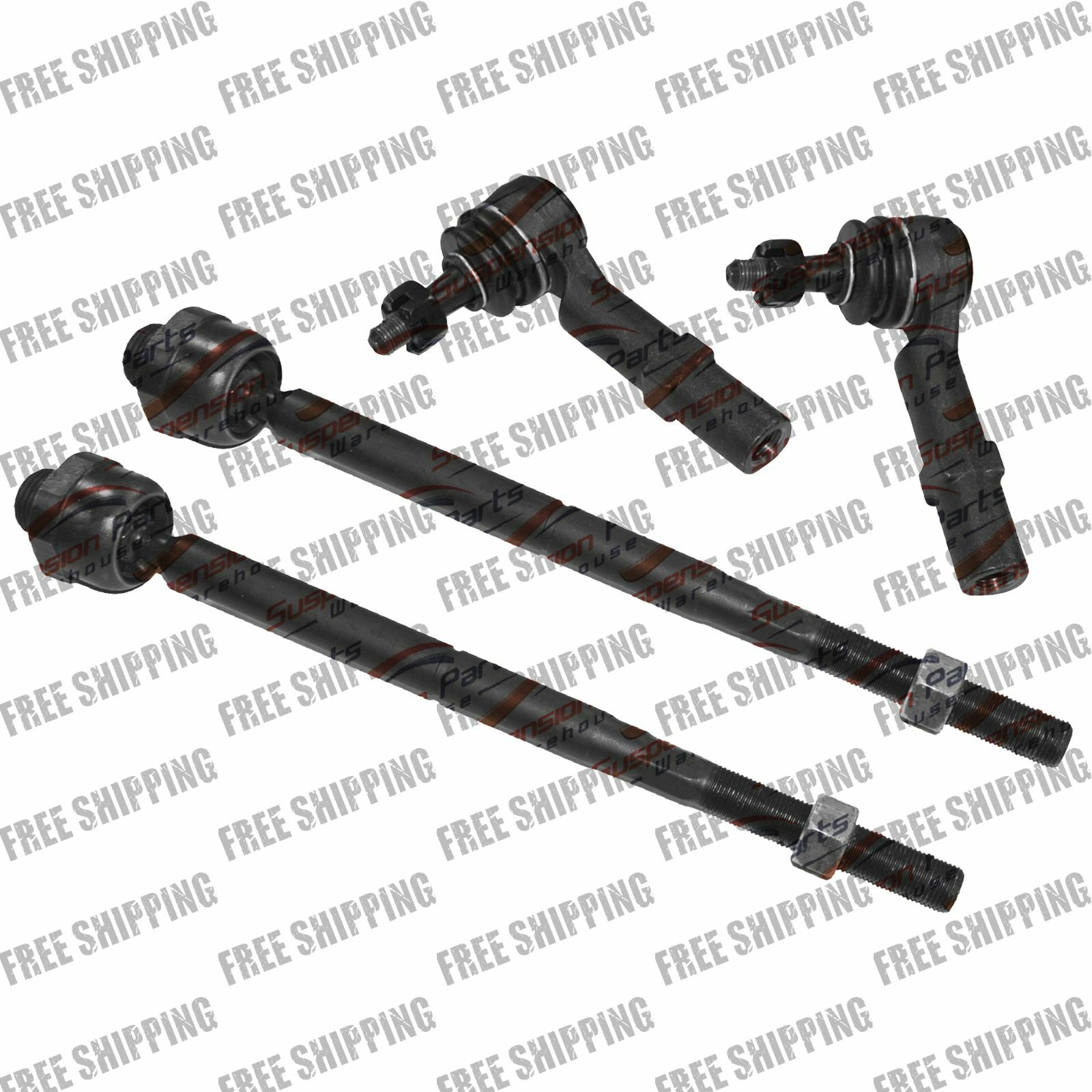INEEDUP NEW 6 Set of Outer Tie Rod Ends Front Sway Bar End Links Outer Tie Rod Ends Rear Sway Bar End Links Rear Sway Bar End Links Compatible with for 2003-2006 Infiniti FX35 2003-2006 Infiniti FX45